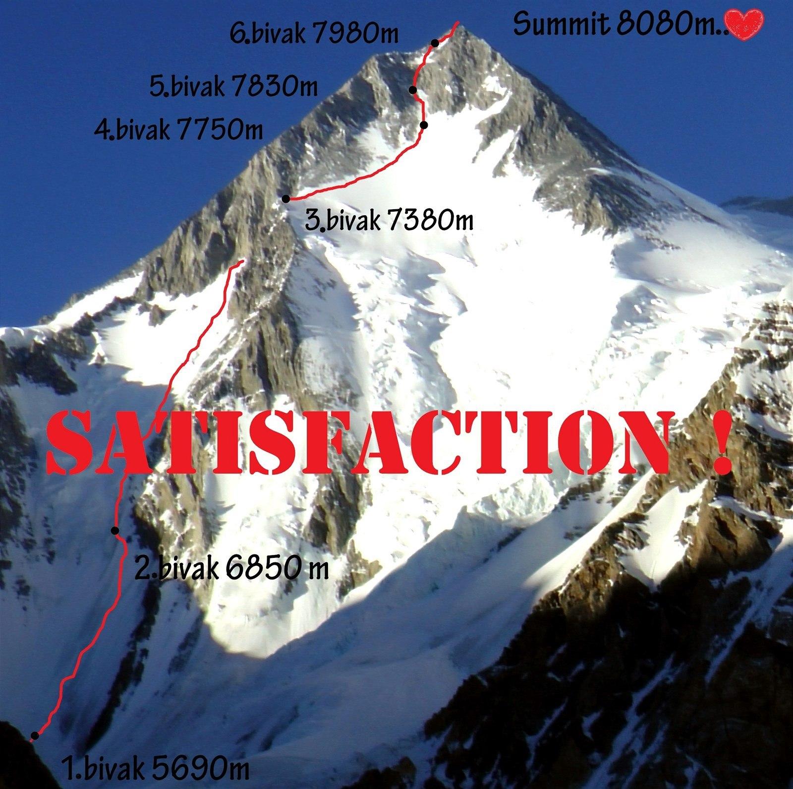 Zákres cesty Satisfakce
