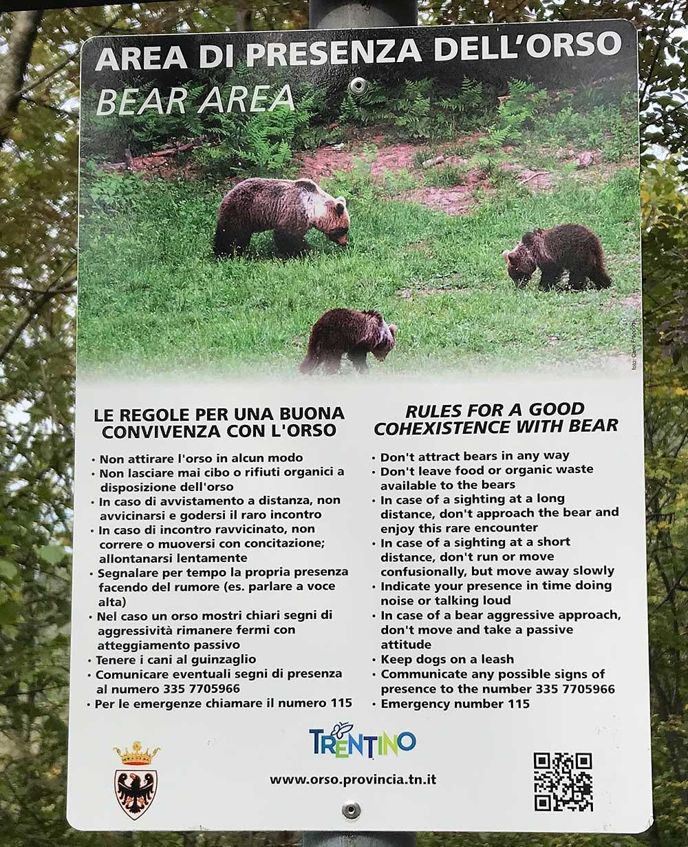 Medvědí oblast, instrukce