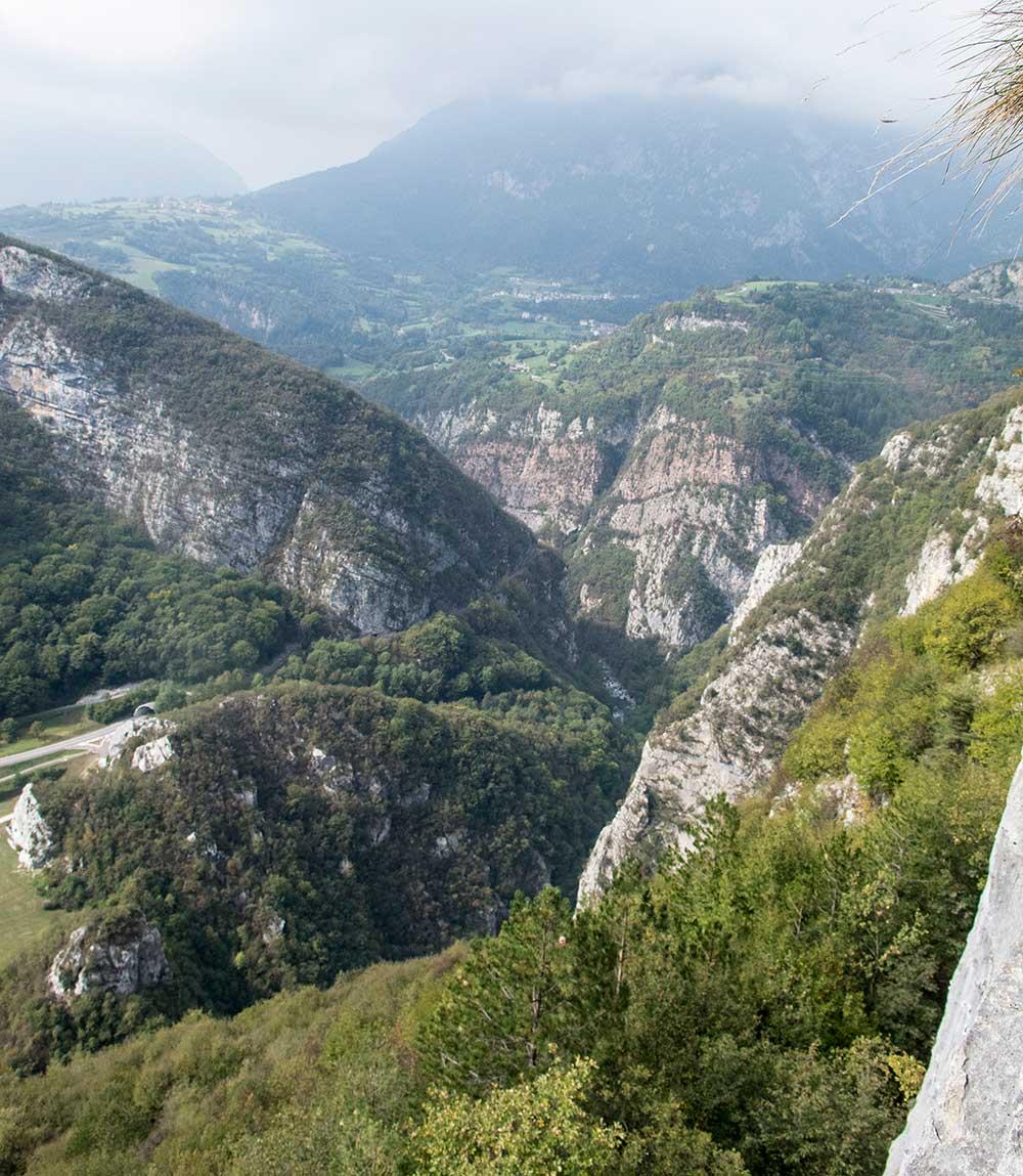 Údolí Sarca směrem k Madonně do Campilio