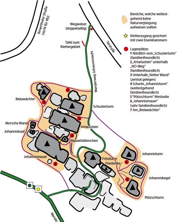 Plánek skupiny Johanniswacht
