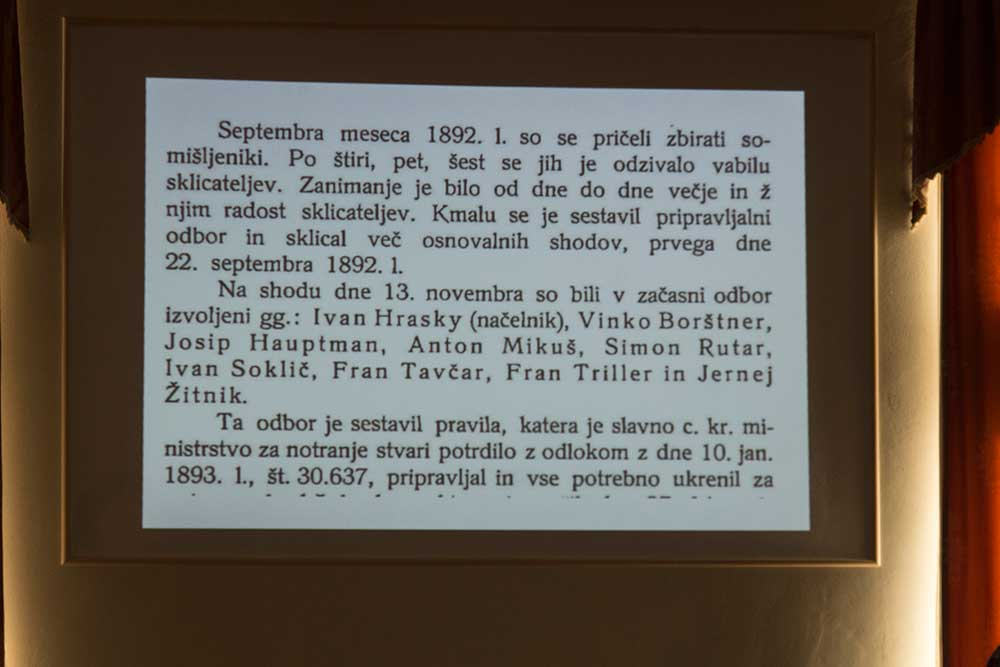 Doklad o zakládání českého odboru