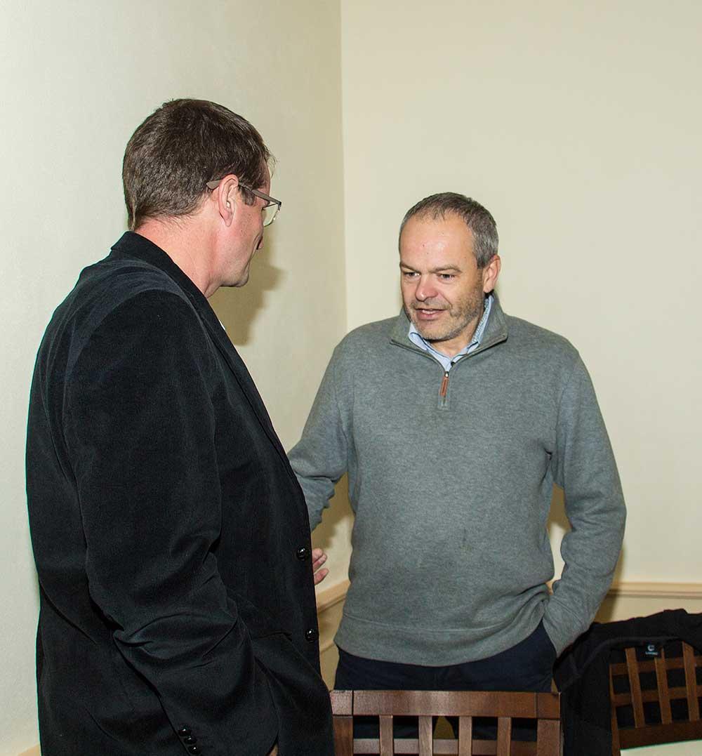 Šimon Budský, předseda Slovinsko českého spolku a Bojanem Rotovnikem