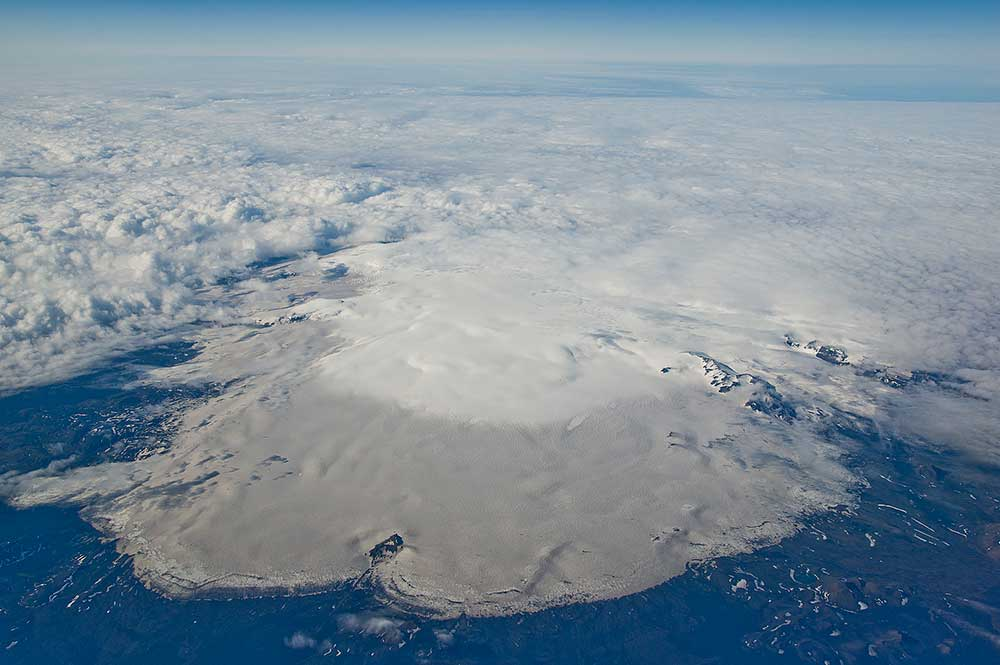 Island, 25.6.–9.7.2017. - Island, pohledy z letadla.