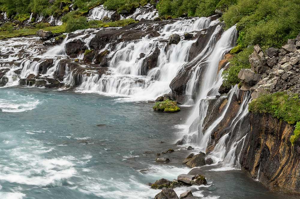 Island, 25.6.–9.7.2017. - Hraunfossar.