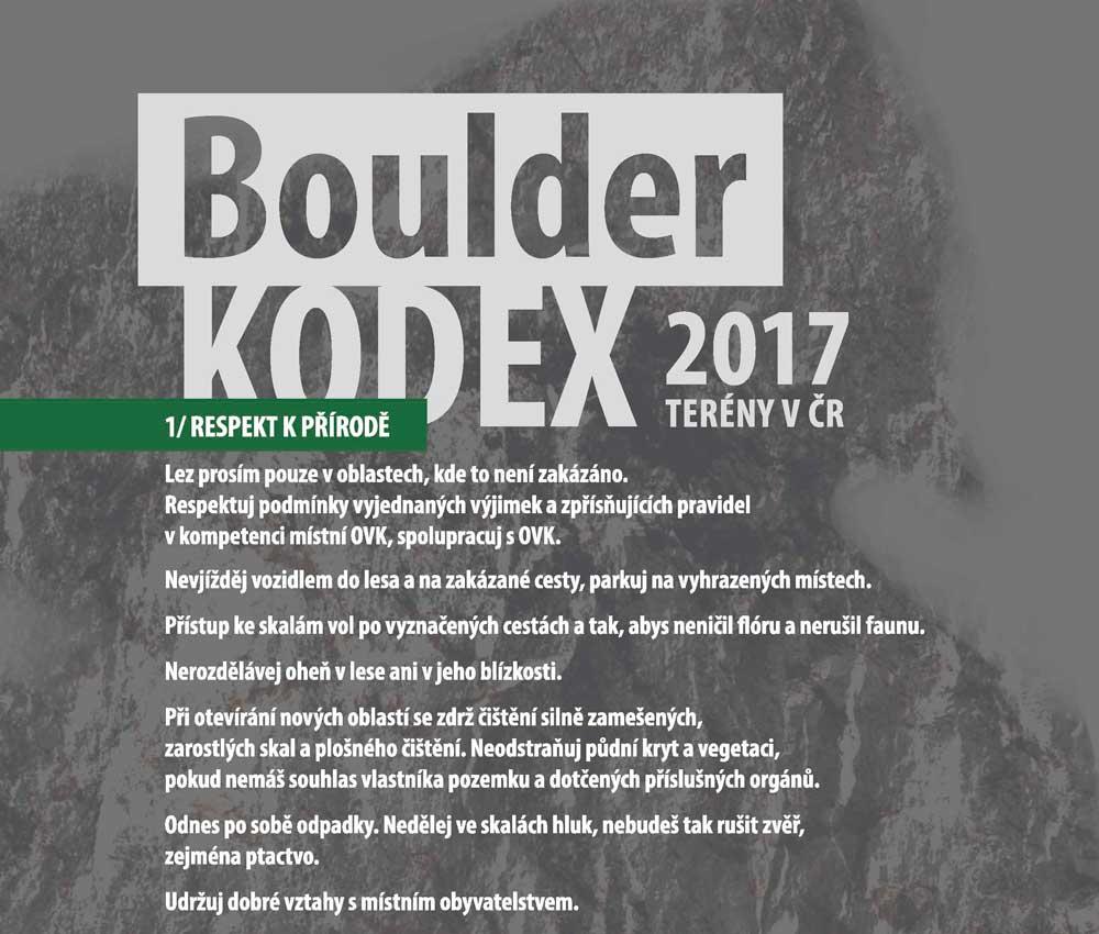 Boulder kodex ukázka