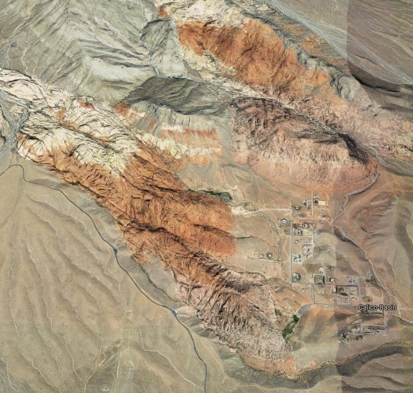 Calico Basin na mapě Google
