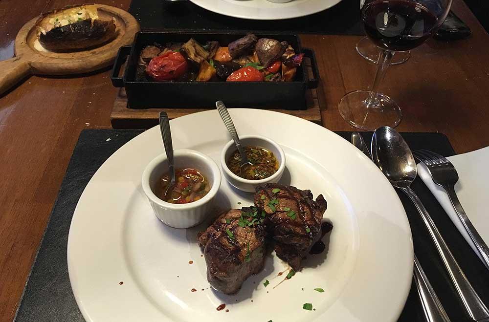 Vysoká gastronomie v Ushuaie