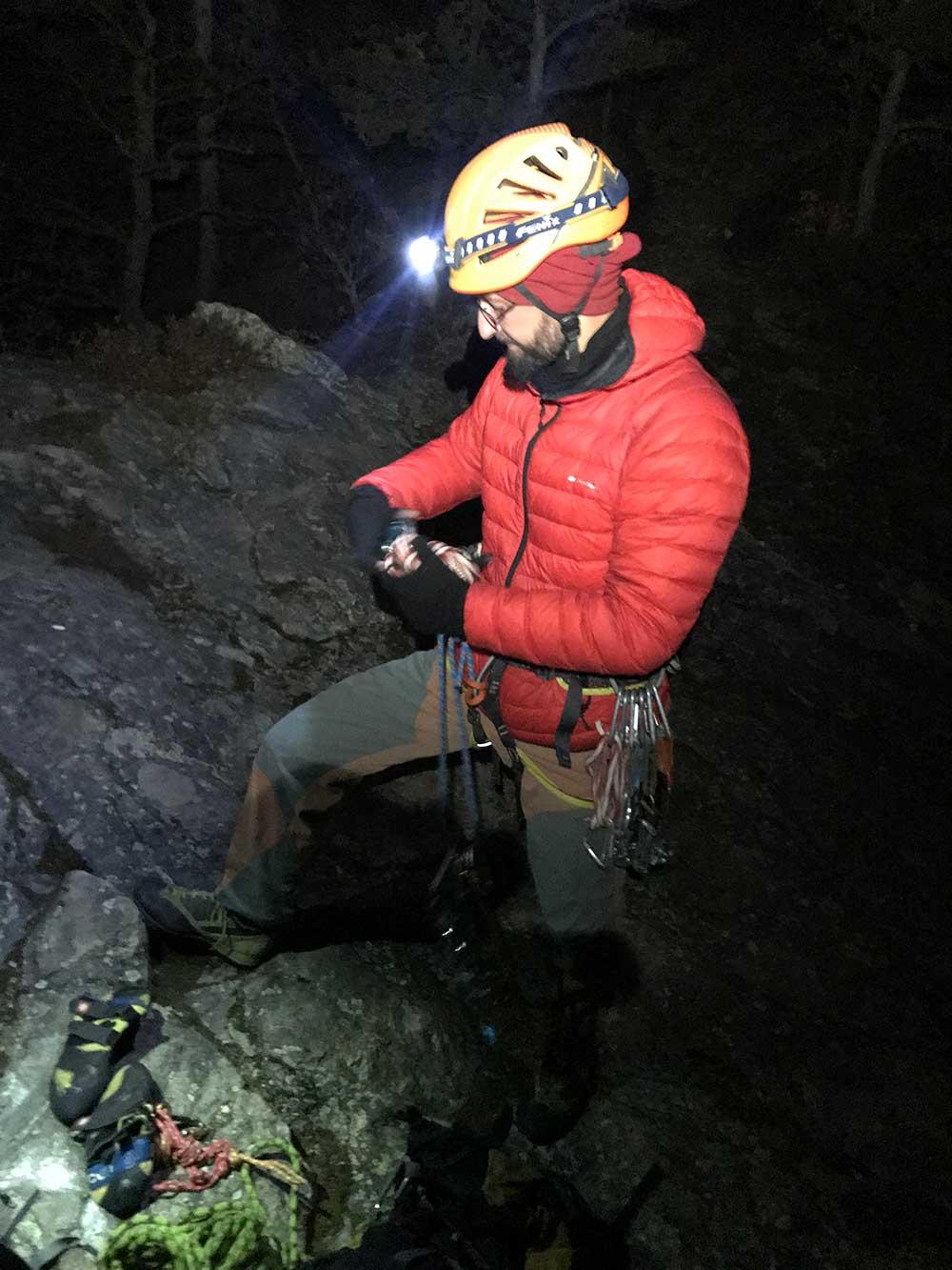 Příprava na lezecký test