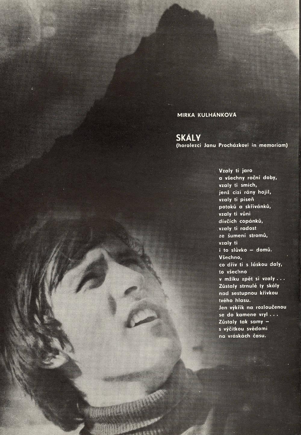 Báseň pro Jana Procházku