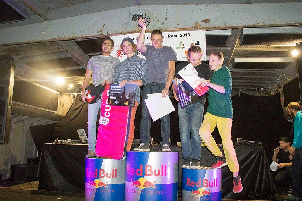 Vítězové: 4. Michal barchánek, 2. Štěpán Pochman, 1. Martin Dvorský, 3. Eduard Minks, 5. Jáchym Cink
