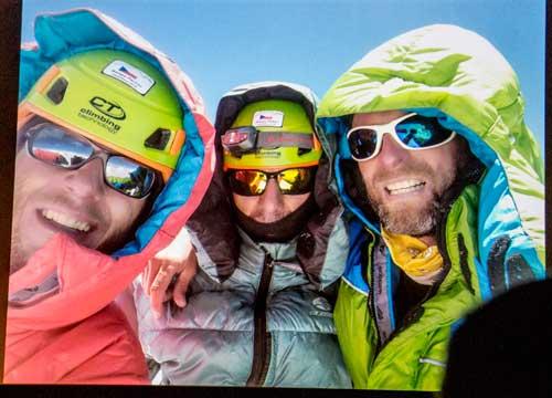 Nanga Parbat, tři na vrcholu