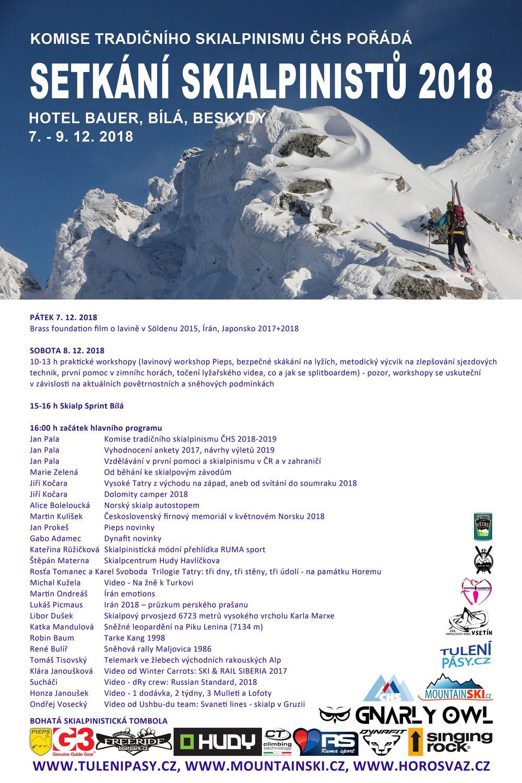 Setkání skialpinistů plakát