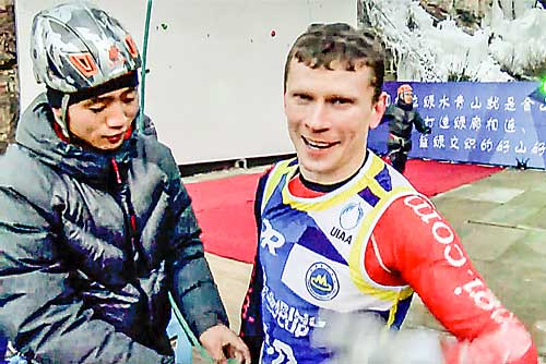 Vítěz obtížnosti Nikolaj Kuzovlev