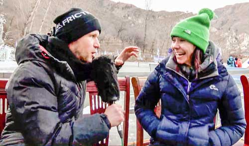 Stříbrná Irka Eimir McSwiggan v rozhovoru s reportérem