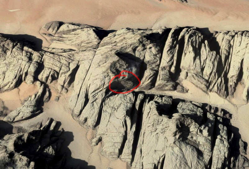 Jebel Barrah V stěna