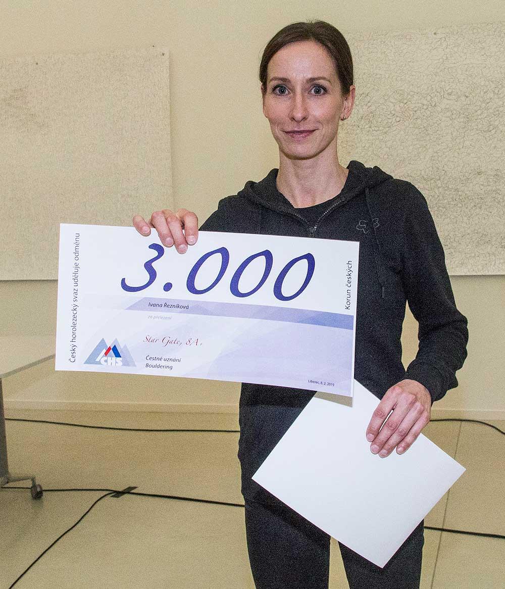 Ivana Řezníková oceněná za boulder 8A+