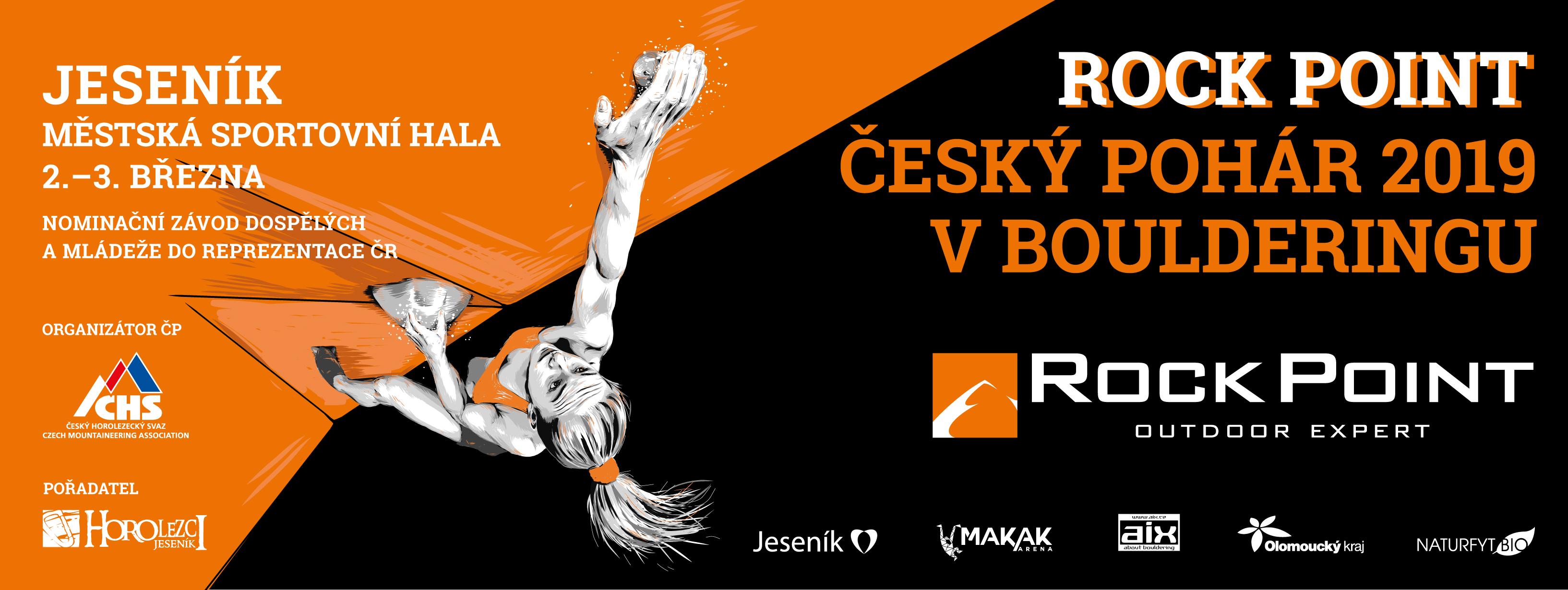 Rock Point český pohár v boulderingu 2019 Jeseník
