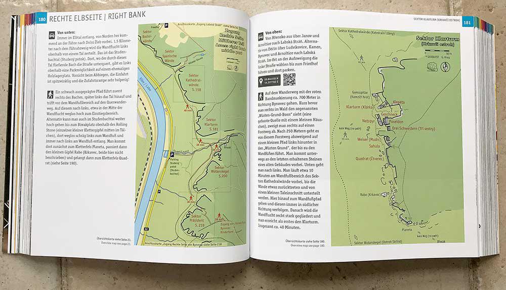 Mapa Pravého břehu a sektoru Krkavčí ostroh
