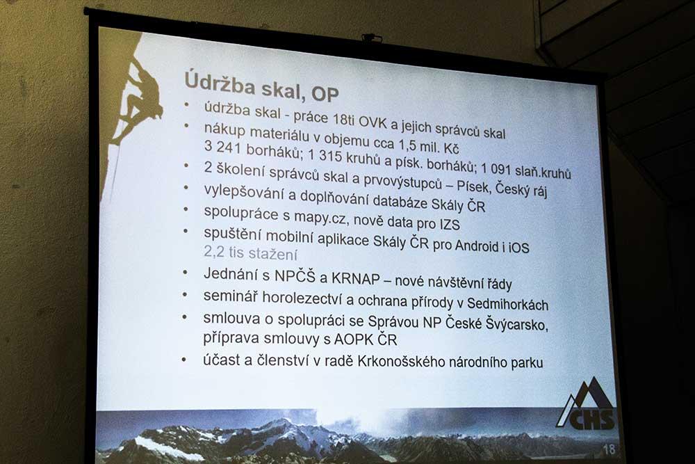 Zpráva o činnosti - Údržba skal, ohrana přírody