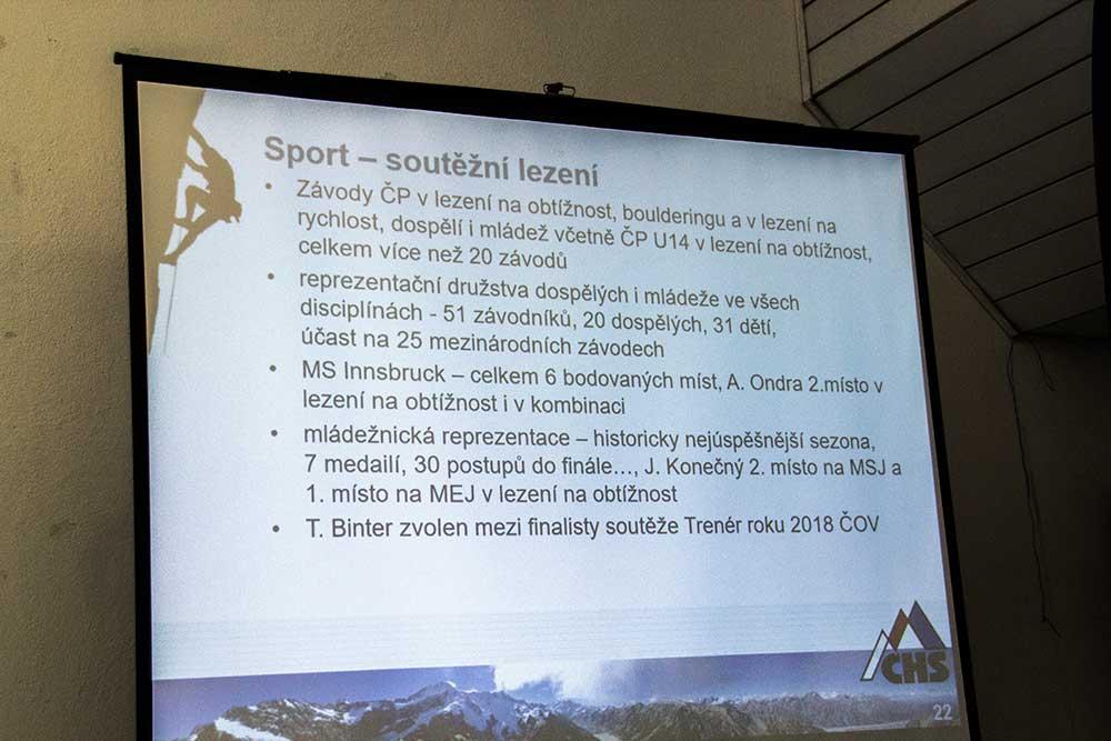 Zpráva o činnosti - Sport - soutěžní lezení