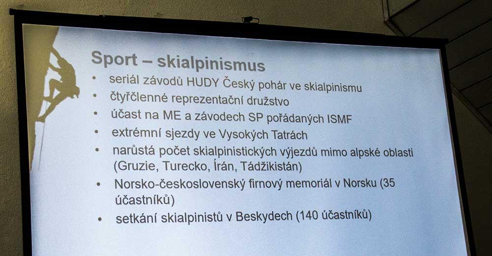 Zpráva o činnosti - skialpinismus