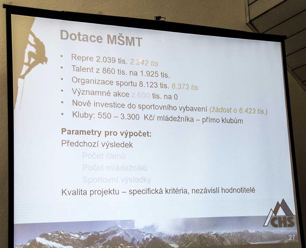 Zpráva o činnosti - Dotace MŠMT