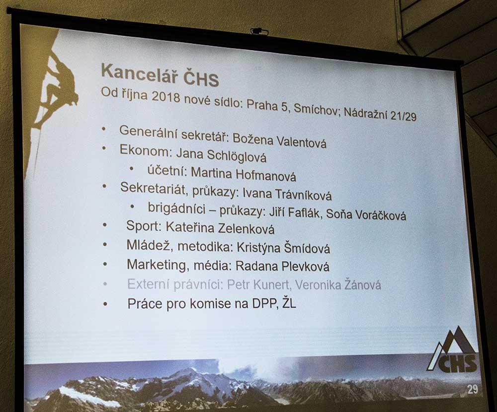 Zpráva o činnosti - Kancelář ČHS