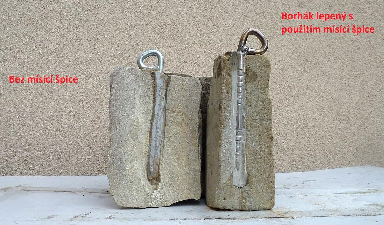 Vlevo chybně a vpravo správně zalepený borhák
