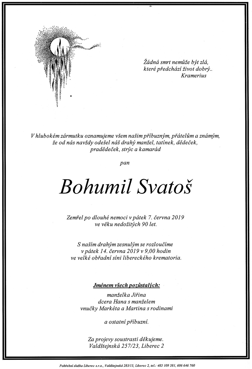 Parte Bohumila Svatoše