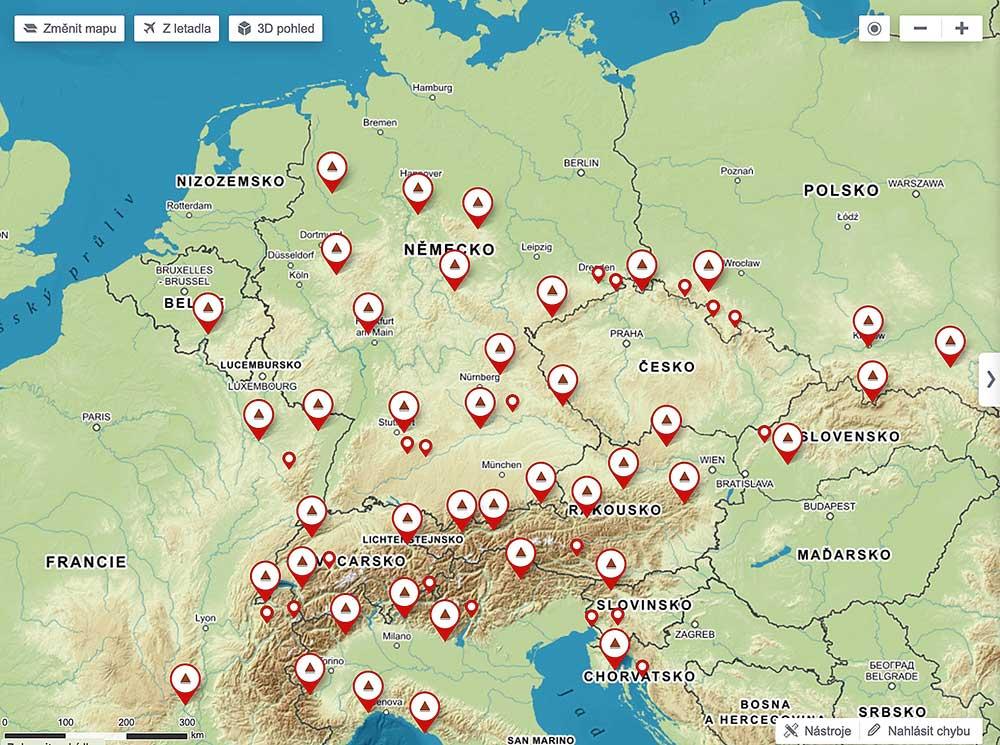 Evropské skály agregované do náhodně vybraných objektů