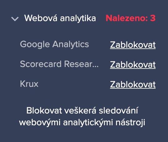 Analytické nástroje na horydoly.cz