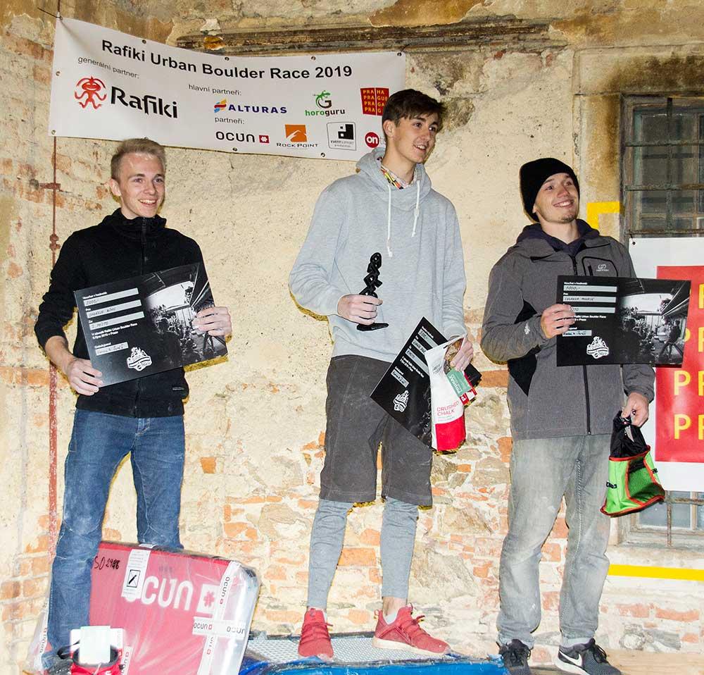 Vítězové RUBR: Ondřej Bína, Lukáš Doleček a Eduard Minks
