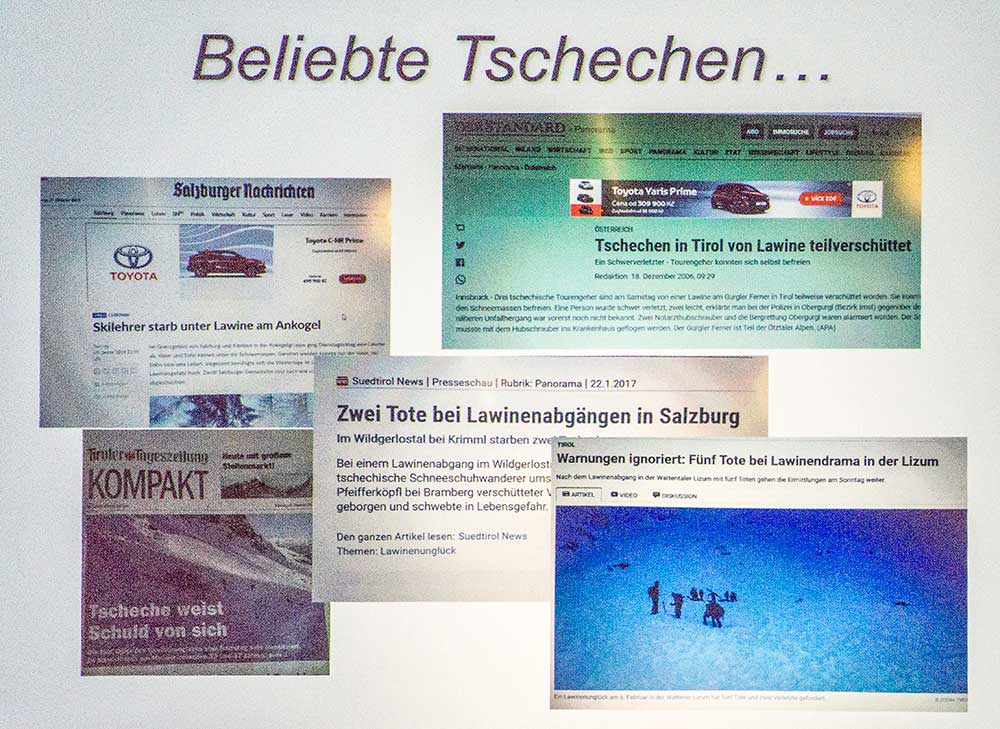 V rakouských médiích jsme oblíbenější, než odpovídá realitě