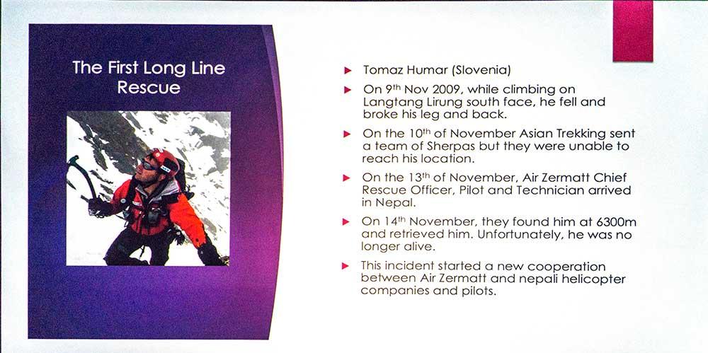 Průběh záchranky Tomaže Humara
