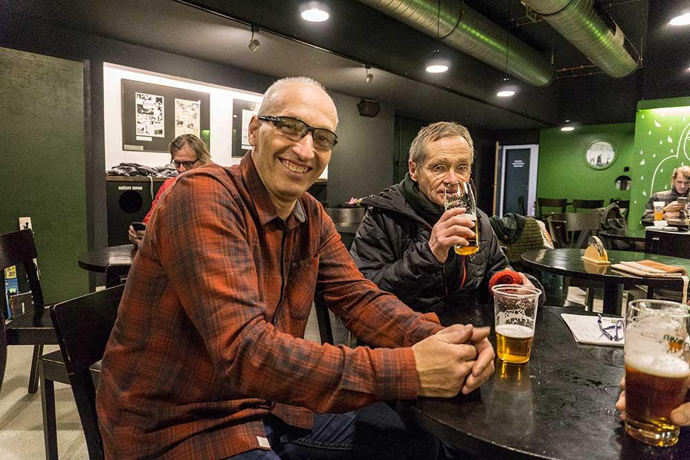 Organizátor Pepa Šimůnek a Bernd Arnold