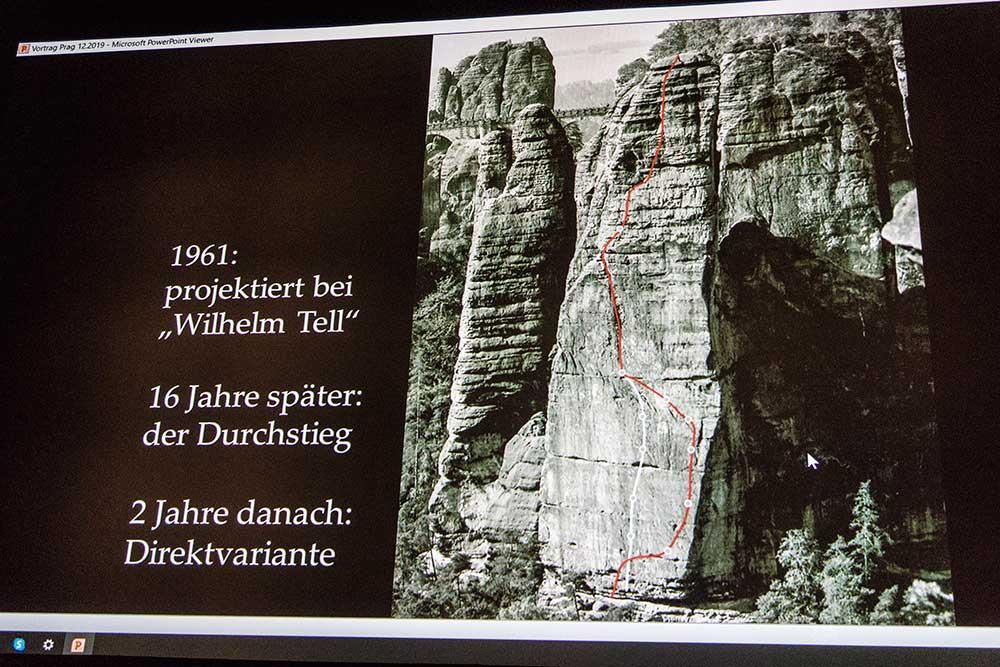 Historie stěny Großer Wehlturm