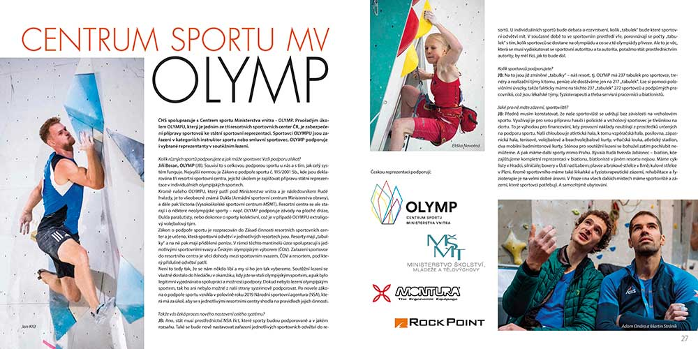 Ročenka ČHS rozohovor o Centru Olymp