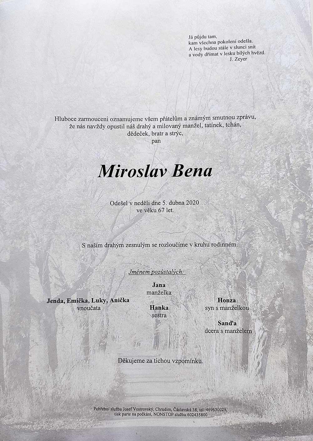 Miroslav Béna - parte