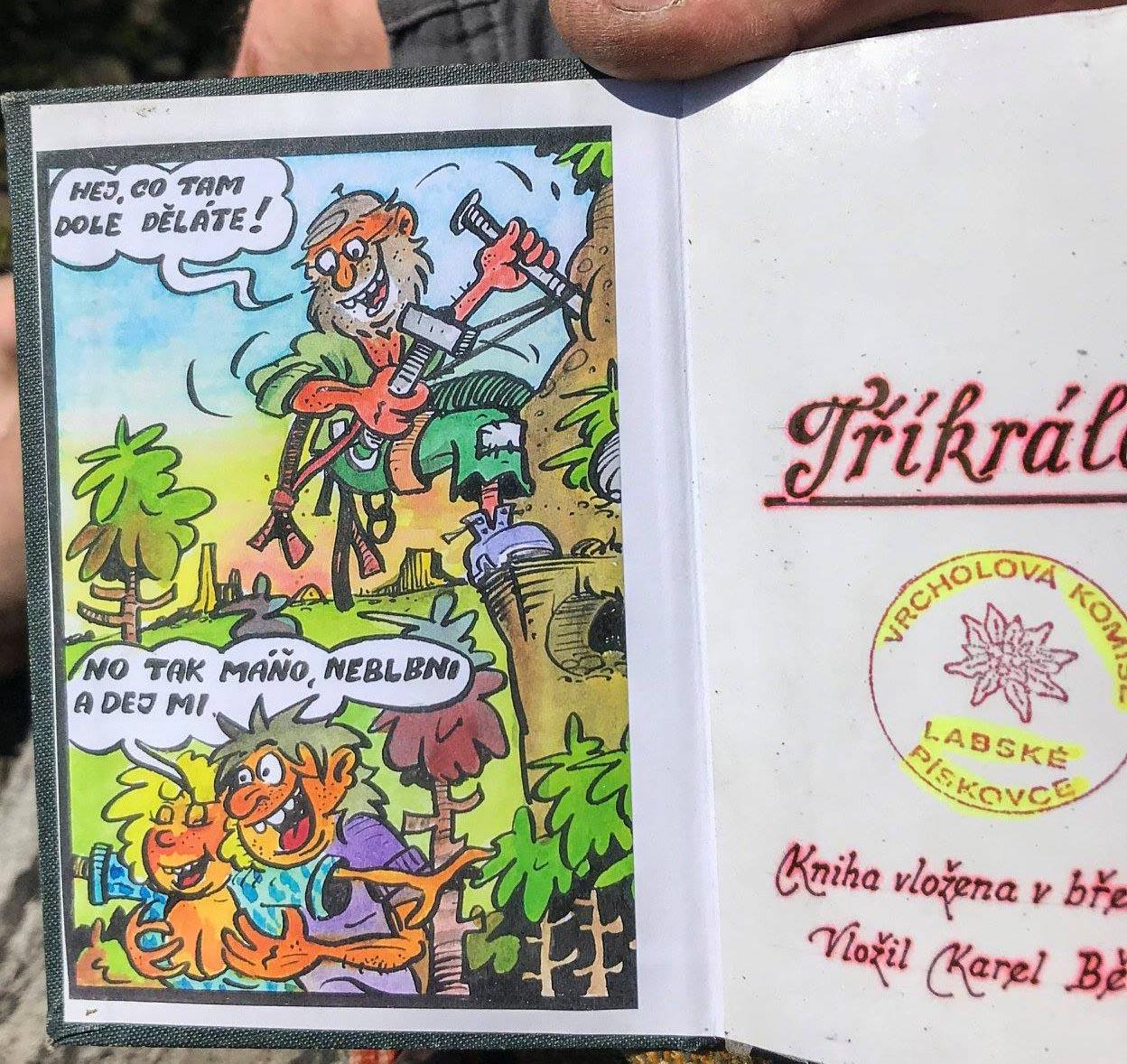Karel Bělina ve vrcholových knížkách - Tříkrálový masiv