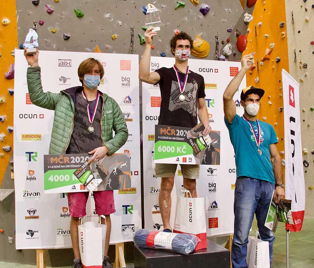 Vítězové - Zleva Konečný, Ondra a Dtráník