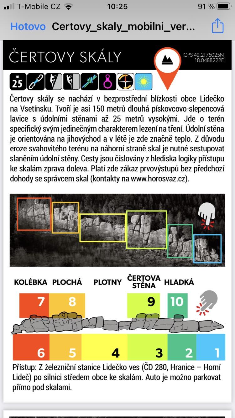 Čertovy skály u Lidečka - úvod