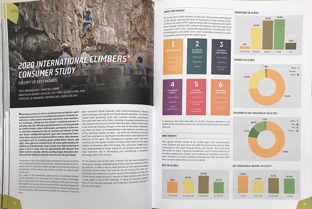 Výsledky studie chování lezců