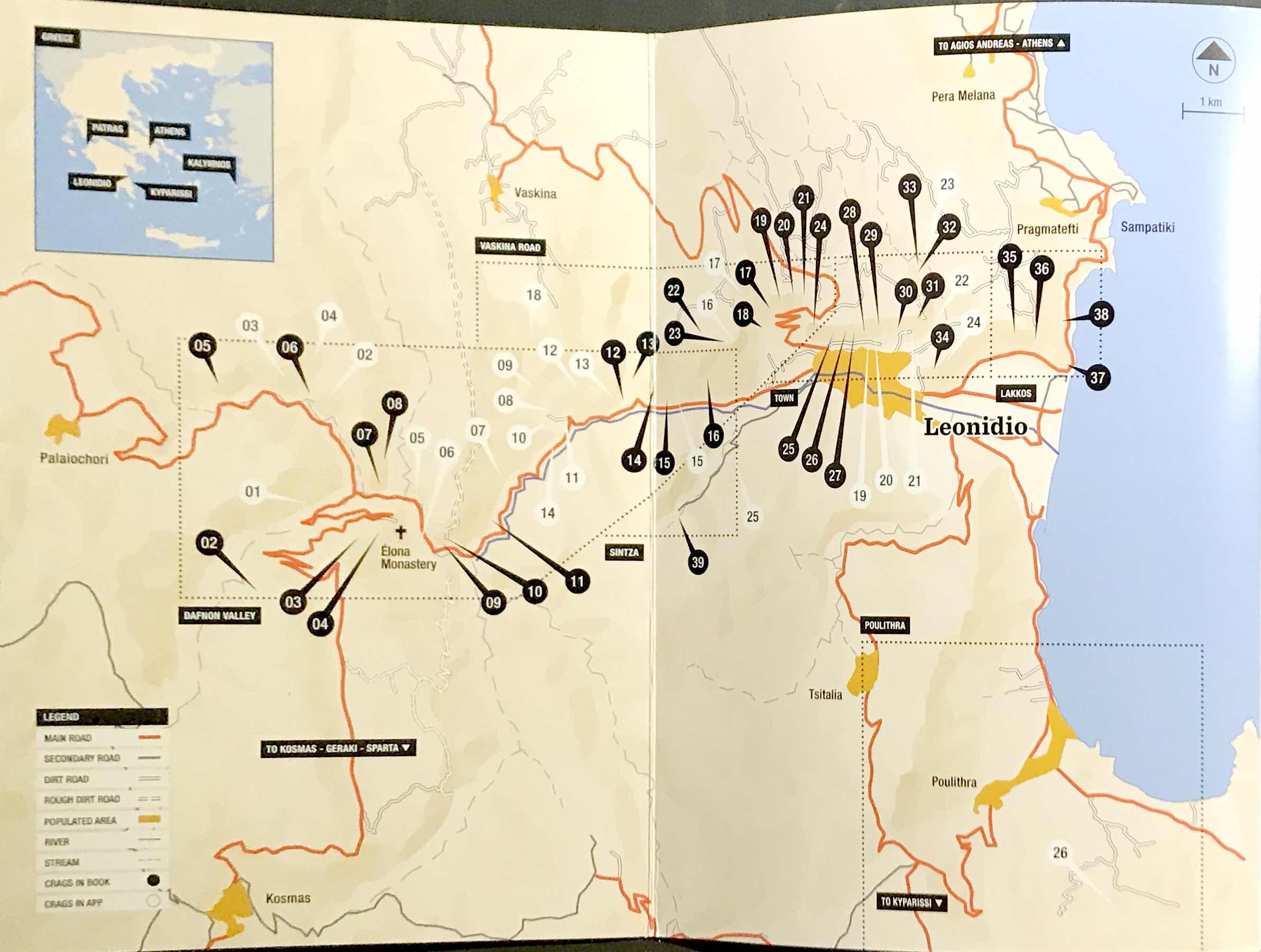 Leonidio @ Kyparissi - mapa