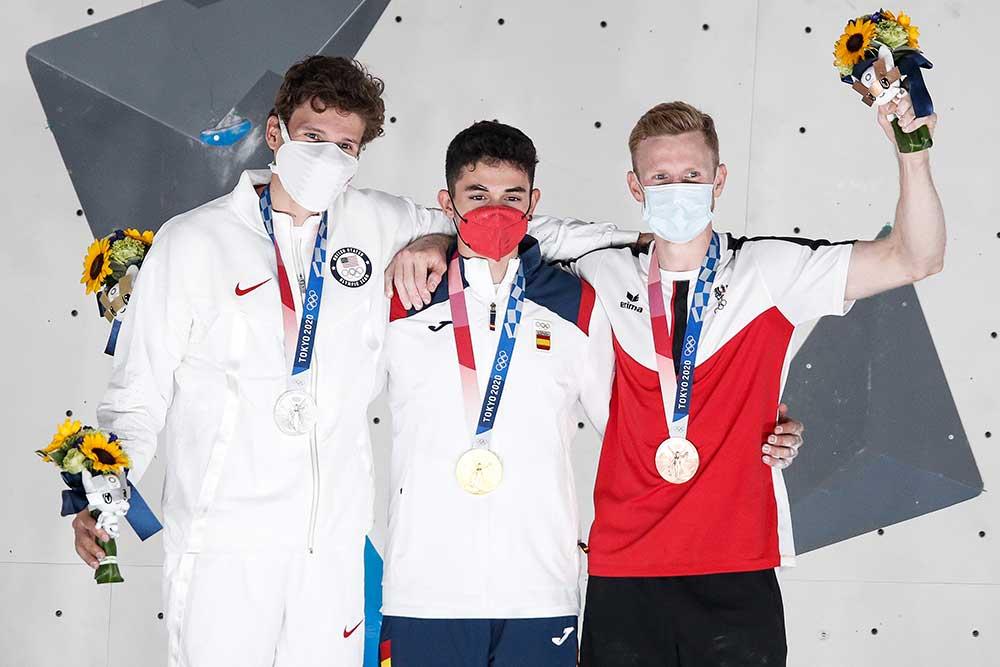 Prní medailisti ve sportovním lezení