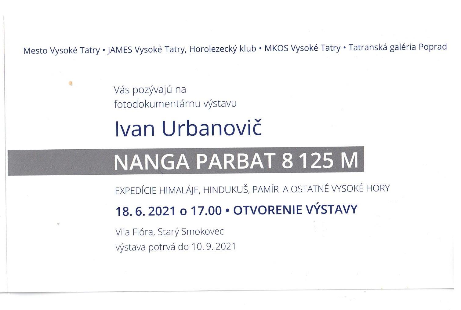 Pozvánka na výstavu fotografií Ivana Urbanoviče
